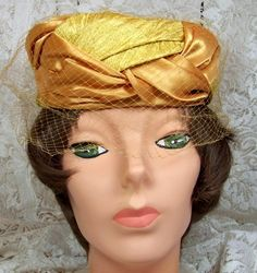 Vintage Satin and Brocade Cocktail hat with by thingsandblings