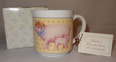 Pig Mug Coffee Cup Bonnet Piglet Creative Circle #8120 in Box Country 11 oz Pink #CreativeCircle