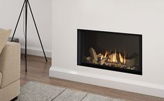 Infiinty gas fire stockists in Warrington. Fireplaces and Stoves Ltd stock Infinity gas fires in our Warrington showroom - visit us today. Fireplace Wall, Living Room With Fireplace, Wall Fireplaces, Wall Gas Fires, Black Glass, Infinity, Fire Places, Warm, Stoves