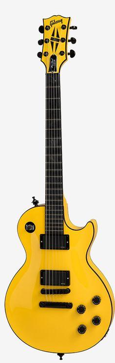 Diablo Yellow Gibson Les Paul Custom Chambered Blackout model