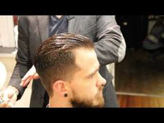 ▶ Pompadour haircut - how to cut a pompadour haircut - how to style a pompadour - Clipper over comb - YouTube ... the music track is so loud compared to the guy explaining and doing the cut, that you really have to pay attention :/