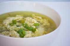 "A protein-packed, mineral rich meal in 15 minutes flat? This egg drop soup is my ""go to"" recipe when I'm putting together a meal to a new mom :). Replace soy sauce with coconut amino. Paleo Recipes, Soup Recipes, Whole Food Recipes, Cooking Recipes, Paleo Meals, Clean Recipes, Paleo Diet, Paleo Soup, Bon Appetit"