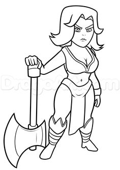 clash of clans hog rider coloring pages coloring pages | ausmalbilder | ausmalbilder, clash of