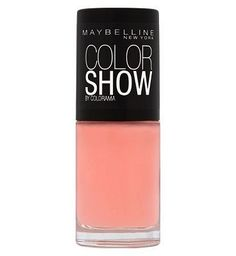Maybelline Color Show Nail Lacquer 70 Ballerina Peach Colored Nails, Coral Nails, Peach Nails, Sheer Nail Polish, Peach Nail Polish, Polish Nails, Maybelline Nail Polish, Gel Nail Colors, Ballerina Nails