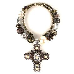 Treska Cathedral Copper Tone and Brown Cross Pendant Coil Necklace * Tried it! Love it! Click the image. : Jewelry Trends