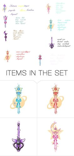 """Doki Doki Planet's Warriors Sailors Collection Attacks Wands"" by belmabjelic2 ❤ liked on Polyvore featuring art"