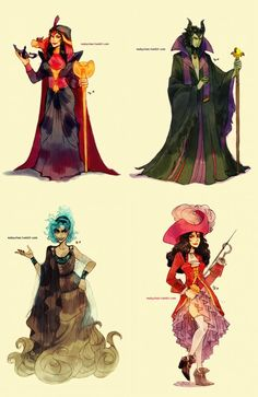 Genderbent Disney Villains...i like them but maleficant wasnt the villan in her latest movie