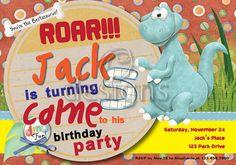 Dinosaur Digital Party Invitation No 2 by Odesigns on Etsy, €9.00