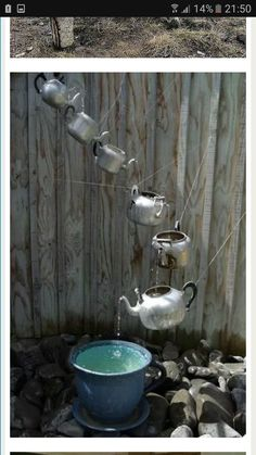 Garden creative rain teapot