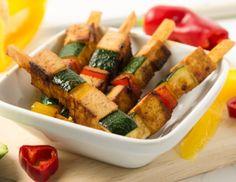 Gemüsegrillspieße mit Tofu