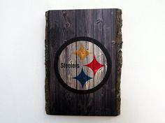 Decorative Wooden Plaque with Pittsburgh Steelers by WOODSNACKS