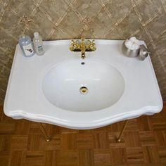 Pennington Console Sink with Brass Stand