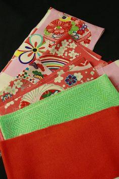 Retro cloth set for hand craft / 手芸用に!レトロかわいいハギレセット   #Kimono #Japan http://global.rakuten.com/en/store/aiyama/