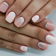 hottest nail designs, best nail art designs, short nails in 2020 Cute Gel Nails, Short Gel Nails, Hot Nails, Cute Acrylic Nails, Pink Nails, Short Nails Art, Hot Nail Designs, Acrylic Nail Designs, Stylish Nails