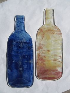 Tie Dye Fused Bottles
