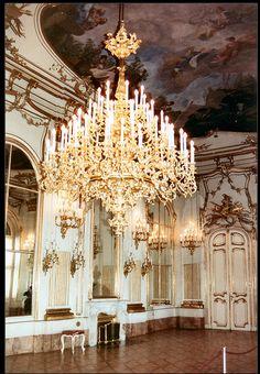 Chandelier at Vienna's Schönbrunn Palace.