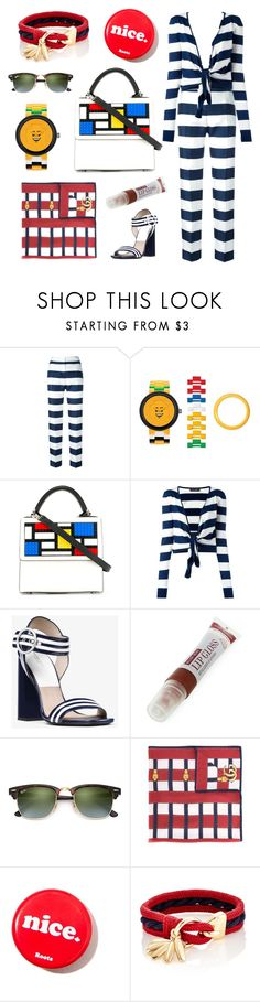 """""""Blocked Stripes"""" by psgiftguide ❤ liked on Polyvore featuring Dolce&Gabbana, Lego, Les Petits Joueurs, Michael Kors, Ray-Ban, Gucci and Chloé"""