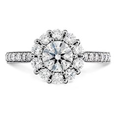 Hearts On Fire Beloved Open Gallery Engagement Ring-Diamond Band