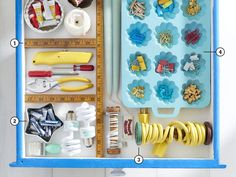 Get your junk drawer organized by turning flea market finds into organizational tools.
