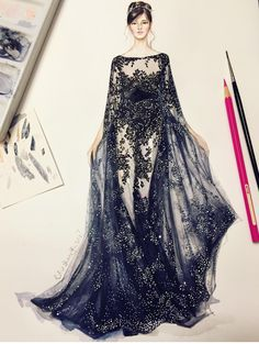Zuhair Murad #ThatGibsonGirl  #FashionIllustrations @Shamekhbluwi| Be Inspirational ❥|Mz. Manerz: Being well dressed is a beautiful form of confidence, happiness & politeness