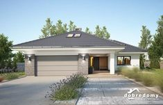 Miriam V - Dobre Domy Flak & Abramowicz House Layout Plans, House Layouts, Contemporary House Plans, Modern House Design, Beautiful House Plans, Beautiful Homes, Casa Patio, Facade House, House Painting