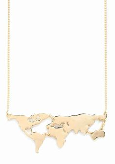 This gold global necklace: | 23 Travel Inspired Accessories To Satisfy Your Wanderlust