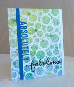 Stenciled Card Class Day 1 by Stampin Sue, via Flickr