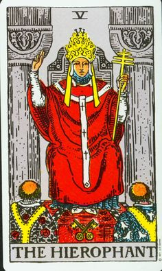 (2014-02-19) premiumastrology says: When you see thehierophant appear in your dailytarot you can definitely rest assured that you are involved, or about to be, in something that will nurture and support your higher self. This is not a card to take lightly, as one of the only 3 pillar cards in the deck it represents information that will be coming to you very soon, and if you have more than one of these in your reading then the information on its way to you is likely to change your life.