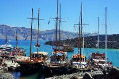 Boat trip in Santorini, Greece