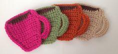 Quick & Easy crocheted Mug Coasters | Video Tutorial