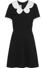 ValentinoScallop-collar wool-crepe mini dress $2690