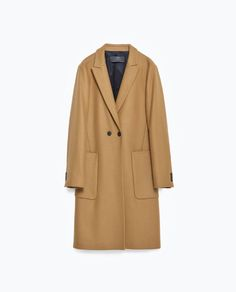 Image 8 of WOOL COAT WITH LAPELS from Zara