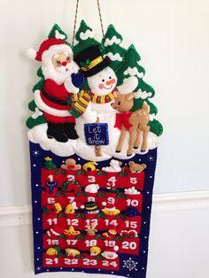 Finished Bucilla Advent Calendar by JillianBCreations on Etsy