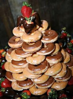 ideas for grooms cakes | donut grooms cake | Wedding ideas