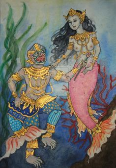 a short-story based on the Thai national epic the Ramakien (which is based on the Hindu Ramayana).  Machanu is the son of Hanuman the monkey-king and Supanna Matcha, a mermaid