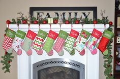 SALE Set of 4 Personalized Christmas stockings choose your favorite 4 and personalization on Etsy, $99.80