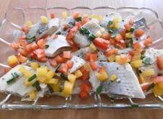 Aromatyczne śledzie  oleju Salsa, Ethnic Recipes, Food, Essen, Salsa Music, Meals, Yemek, Eten