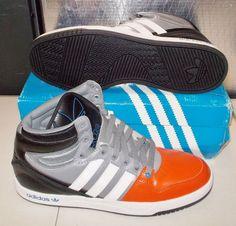 ADIDAS COURT ATTITUDE Originals MENS 10.5 Orange White Black Q33023 NEW #adidas #Athletic