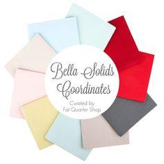 Bella Solids Coordinates Fat Quarter Bundle Curated by Fat Quarter Shop    Fat Quarter Shop