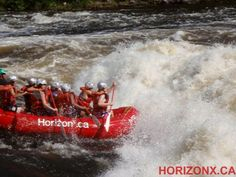 through the rapids on the ottawa river