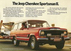 Jeep Cherokee Sportman II.. My parents bought a yellow one of these here in Oz in the mid '80's and we travelled around Australia in it for around 18months towing a custom built camper trailer. There was nowhere the Jeep couldn't take us. A huge Chrysler 360cu V8 tends to get you wherever you want to go!! It was an awesome adventure for me being 11-12yo at the time...