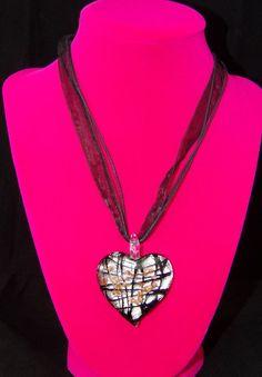 Murano Glass Glitter Heart Pendant Necklace Gift | Jewelry & Watches, Fashion Jewelry, Necklaces & Pendants | eBay!