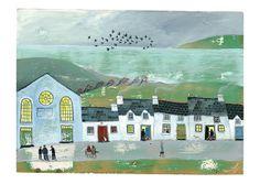 Valeriane LeBlond _ beautiful folk art painting Mae hiraeth...   Flickr - Photo Sharing!