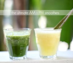 The Ultimate AM + PM Smoothies by @leaftv