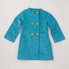 kids contrast button jacket