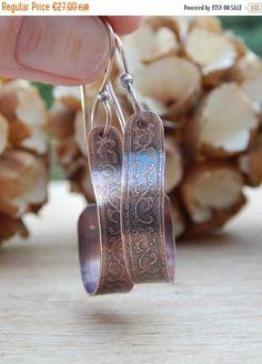 Boucles d'oreilles en cuivre par Dambreline sur Etsy