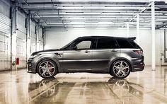 Range Rover sport, silver, tuning  Range Rover, SUV