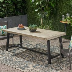 Diy Outdoor Table, Outdoor Dining Furniture, Outdoor Dining Set, Outdoor Living, Outdoor Decor, Rustic Outdoor, Outdoor Spaces, Indoor Outdoor, Concrete Dining Table