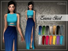 Emma Skirt at Trillyke via Sims 4 Updates  Check more at http://sims4updates.net/clothing/emma-skirt-at-trillyke/