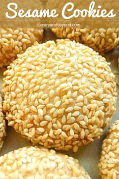 You can make these crunchy sesame cookies very easily! You should toast the sesame seeds for the best results. #sesame #sesameseeds #sesamecookies